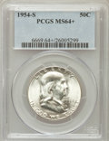 Franklin Half Dollars, 1954-S 50C MS64+ PCGS. PCGS Population (3676/3670). NGC Census:(1441/5084). Mintage: 4,993,400. Numismedia Wsl. Price for ...
