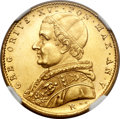 Italy, Italy: Papal States. Gregory XVI gold 5 Scudi 1835R Year V,...