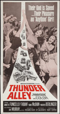 "Movie Posters:Action, Thunder Alley (American International, 1967). Three Sheet (41"" X 79""). Action.. ..."