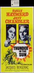 """Movie Posters:Western, Thunder in the Sun (Paramount, 1959). Three Sheet (41"""" X 79.5""""). Western.. ..."""