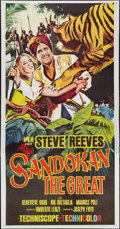 "Movie Posters:Adventure, Sandokan the Great (MGM, 1965). Three Sheet (41"" X 79"").Adventure.. ..."