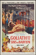 "Movie Posters:Adventure, Goliath and the Sins of Babylon (American International, 1964). One Sheet (27"" X 41""). Adventure.. ..."