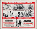 """Movie Posters:James Bond, Thunderball/You Only Live Twice Combo (United Artists, R-1971). Half Sheet (22"""" X 28""""). James Bond.. ..."""