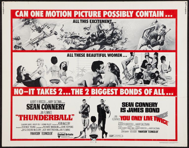 Thunderball/You Only Live Twice Combo (United Artists, R