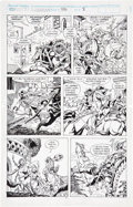 Original Comic Art:Panel Pages, Gary Hartle and Mike DeCarlo Conan the Barbarian #246 Page 3 Original Art (Marvel, 1991)....