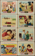 "Movie Posters:Adventure, Legend of the Lost (United Artists, 1957). Lobby Card Set of 8 (11""X 14""). Adventure.. ... (Total: 8 Items)"