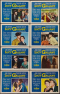 "Movie Posters:Drama, Lucy Gallant (Paramount, 1955). Lobby Card Set of 8 (11"" X 14"").Drama.. ... (Total: 8 Items)"