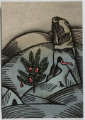 Books:Literature 1900-up, Dylan Thomas. The Mouse and the Woman. Brighton, 1988.Limited to 180 numbered copies, signed by artist. Sli...