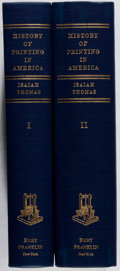 Books:Books about Books, [Books About Books]. Isaiah Thomas. The History of Printing inAmerica. Vol. I & II. Franklin, [n. d.]. Facsimil...(Total: 2 Items)