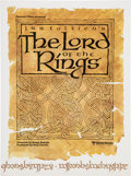 Memorabilia:Movie-Related, The Lord of the Rings Quad-Fold Promotional Program (UnitedArtists, 1978)....
