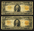 Large Size:Gold Certificates, Fr. 1187 $20 1922 Gold Certificates Two Examples.. ... (Total: 2 notes)