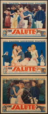 """Salute (Fox, 1929). Lobby Cards (3) (11"""" X 14""""). Sports. ... (Total: 3 Items)"""
