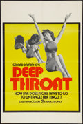 "Movie Posters:Adult, Deep Throat (Aquarius Releasing, 1972). One Sheet (25"" X 38""). Adult.. ..."
