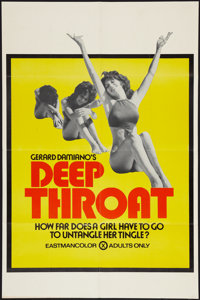 "Deep Throat (Aquarius Releasing, 1972). One Sheet (25"" X 38""). Adult"