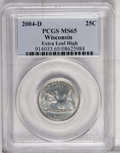 Statehood Quarters: , 2004-D 25C Wisconsin Extra Leaf High MS65 PCGS. PCGS Population(513/66). (#914033)...