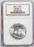 Franklin Half Dollars: , 1950 50C MS65 NGC. NGC Census: (367/25). PCGS Population (195/9).Mintage: 7,793,509. Numismedia Wsl. Price: $120. (#6656)...