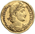 Ancients:Roman Imperial, Ancients: Constantius II (AD 337-361). AV solidus (21mm, 4.42 gm,6h). ...