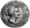 Ancients:Greek, Ancients: MACEDON UNDER ROME. Legatio Issue, Roman embassy. Ca. 148-147 BC. AR tetradrachm (29mm, 16.75 gm, 3h). ...