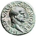 Ancients:Roman Imperial, Ancients: Galba (AD 69). Æ as (26mm, 10.24 gm, 6h)....