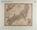 Books:Maps & Atlases, [Map]. Hand-Colored Lithographic Map of Japan. ca. 1870. Matted size approx. 16 x 20 inches. Near fine....