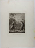 Books:Prints & Leaves, [Copper Engraving] [Cook's Voyages]. A Boxing Match, in Hapaee. London, ca. 1784. From The Three Voyages of Ca...