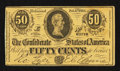 Confederate Notes:1863 Issues, Replica Ad Note T72 50 Cents 1864.. ...