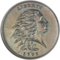 Large Cents, 1793 1C Wreath Cent, Vine and Bars SP66 Brown NGC. S-6, B-7,R.3....