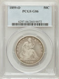 Seated Half Dollars: , 1859-O 50C Good 6 PCGS. PCGS Population (1/254). NGC Census:(0/169). Mintage: 2,834,000. Numismedia Wsl. Price for problem...