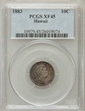 Coins of Hawaii: , 1883 10C Hawaii Ten Cents XF45 PCGS. PCGS Population (78/309). NGCCensus: (31/224). Mintage: 250,000. (#10979)...