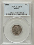 Coins of Hawaii: , 1883 10C Hawaii Ten Cents XF40 PCGS. PCGS Population (72/387). NGCCensus: (35/255). Mintage: 250,000. (#10979)...