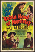 "Movie Posters:Adventure, Robin Hood of Monterey & Other Lot (Monogram, 1947). One Sheets(2) (27"" X 41""). Adventure.. ... (Total: 2 Items)"