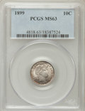 Barber Dimes: , 1899 10C MS63 PCGS. PCGS Population (69/128). NGC Census: (68/135).Mintage: 19,580,846. Numismedia Wsl. Price for problem ...