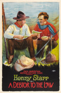 """Movie Posters:Western, A Debtor to the Law (Pan American, 1919). One Sheet (27"""" X 40.5""""). Western.. ..."""