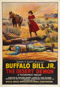 """Movie Posters:Western, The Desert Demon (Weiss Brothers Artclass Pictures, 1925). One Sheet (28.25"""" X 41""""). Western.. ..."""