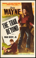 """Movie Posters:Western, The Trail Beyond (Lone Star, R-1940's). One Sheet (27"""" X 41"""").Western.. ..."""