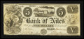 Obsoletes By State:Michigan, Niles, MI- Bank of Niles $5 Jan. 15, 1838. ...