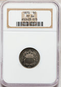Proof Shield Nickels: , 1873 5C Closed 3 PR64 NGC. NGC Census: (111/140). PCGS Population(201/121). Mintage: 1,100. Numismedia Wsl. Price for prob...
