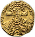 Ancients:Byzantine, Ancients: Justinian II (second reign, AD 705-711). AV solidus(18.5mm, 4.46 gm, 6h). ...