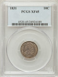 Bust Dimes: , 1831 10C XF45 PCGS. PCGS Population (26/234). NGC Census: (11/249).Mintage: 771,350. Numismedia Wsl. Price for problem fre...