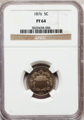 Proof Shield Nickels: , 1876 5C PR64 NGC. NGC Census: (100/114). PCGS Population (144/107).Mintage: 1,150. Numismedia Wsl. Price for problem free ...