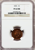 Proof Indian Cents: , 1876 1C PR63 Red and Brown NGC. NGC Census: (42/232). PCGSPopulation (43/147). Mintage: 1,150. Numismedia Wsl. Price for p...