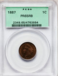 Proof Indian Cents: , 1887 1C PR65 Red and Brown PCGS. PCGS Population (54/9). NGCCensus: (96/30). Mintage: 2,960. Numismedia Wsl. Price for pro...