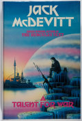 Books:Science Fiction & Fantasy, [Jerry Weist]. Jack McDevitt. SIGNED. A Talent for War. Kinnell, 1989. First British hardcover edition, first printi...