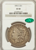 Morgan Dollars: , 1896-S $1 XF40 NGC. CAC. NGC Census: (82/1018). PCGS Population(181/1784). Mintage: 5,000,000. Numismedia Wsl. Price for p...