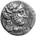 Ancients:Greek, Ancients: Imitating Seleucus I Nicator (312-281 BC). AR/Æ fourréetetradrachm (27mm, 14.15 gm, 1h). ...
