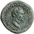 Ancients:Roman Imperial, Ancients: Vespasian (AD 69-79). Orichalcum sestertius (35mm, 25.97 gm, 6h). ...