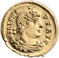 Ancients:Roman Imperial, Ancients: Valens (AD 364-378). AV solidus (21mm, 4.51 gm, 6h). ...