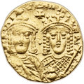 Ancients:Byzantine, Ancients: Constantine VI and Irene (AD 780-797). AV solidus (20mm,4.43 gm, 6h). ...