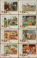 "Movie Posters:Adventure, Hatari! (Paramount, 1962). Lobby Card Set of 8 (11"" X 14"").Adventure.. ... (Total: 8 Items)"