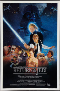 "Return of the Jedi (20th Century Fox, 1983). One Sheet (27"" X 41"") Style B. Science Fiction"